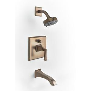 Leyden Pressure-balance Tub and Shower Set Trim with Lever Handle - Phase out - Bronze