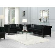 Reventlow Formal Black Two-piece Living Room Set Product Image