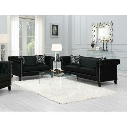 See Details - Reventlow Formal Black Two-piece Living Room Set