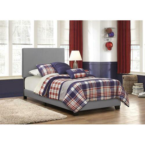 Dorian Grey Faux Leather Upholstered Twin Bed