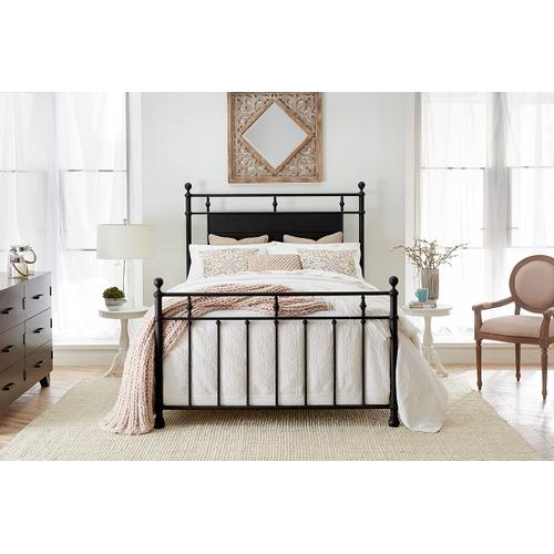 Barton Queen Bed, Textured Black