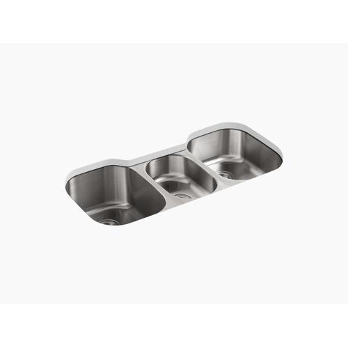 """41-5/8"""" X 20-1/8"""" X 9-1/2"""" Undermount Triple-bowl Kitchen Sink"""