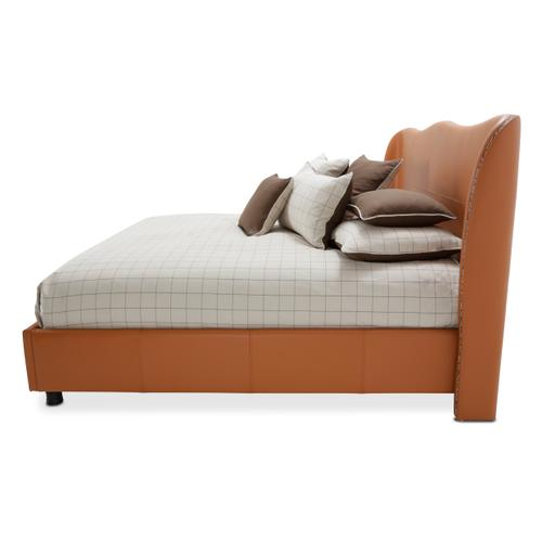 Amini - Eastern King Upholstered Wing Bed (3 Pc)
