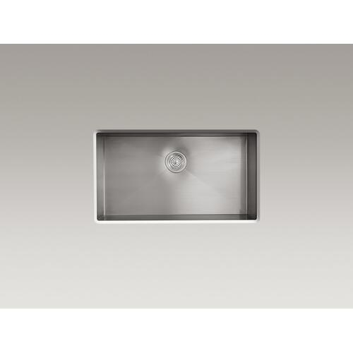 """33"""" X 22"""" X 9-5/16"""" Top-mount/undermount Large Single-bowl Kitchen Sink With 4 Faucet Holes"""