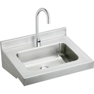"""Elkay Stainless Steel 22"""" x 19"""" x 5-1/2"""", Wall Hung Lavatory Sink Kit Product Image"""
