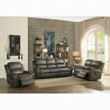 ACME Barnaby Sofa (Motion) - 52880 - Gray Polished Microfiber