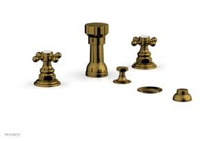 HEX TRADITIONAL Four Hole Bidet Set 500-60 - French Brass Product Image
