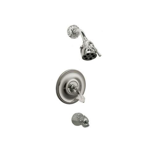 DOLPHIN Pressure Balance Tub and Shower Set PB2184 - Satin Gold with Satin Nickel