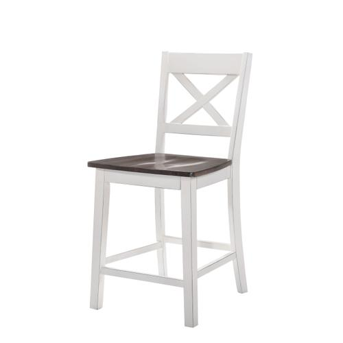 5057-55 COUNTER HEIGHT CHAIR - WHITE