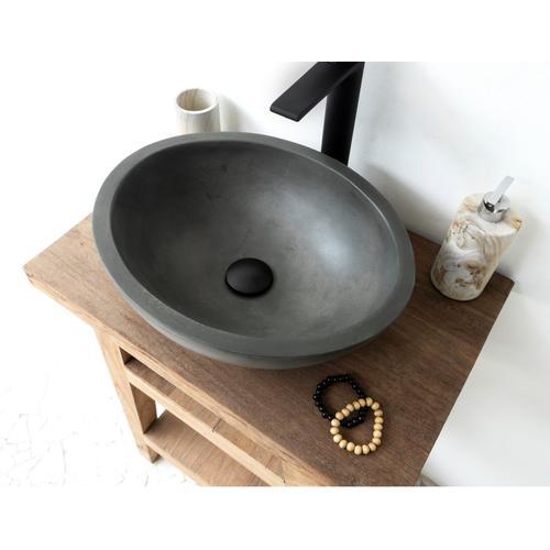 Caspar Small Oval Vessel - Copper Green
