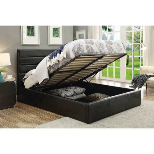 Riverbend Casual Black Full Storage Bed