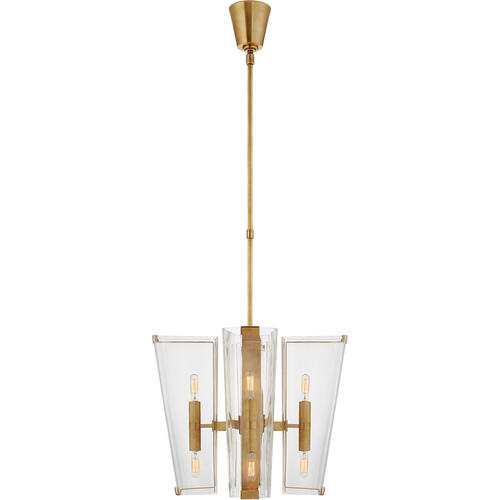 AERIN Alpine 8 Light 20 inch Hand-Rubbed Antique Brass Chandelier Ceiling Light, Small