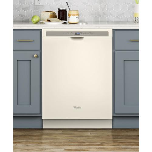 Whirlpool - Stainless steel dishwasher with 1-Hour Wash cycle Biscuit