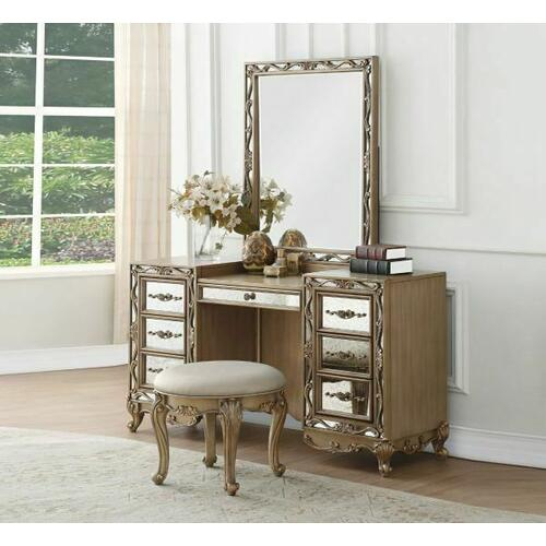 ACME Orianne Vanity Desk - 23797 - Antique Gold