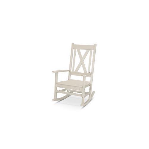 Polywood Furnishings - Braxton Porch Rocking Chair in Sand