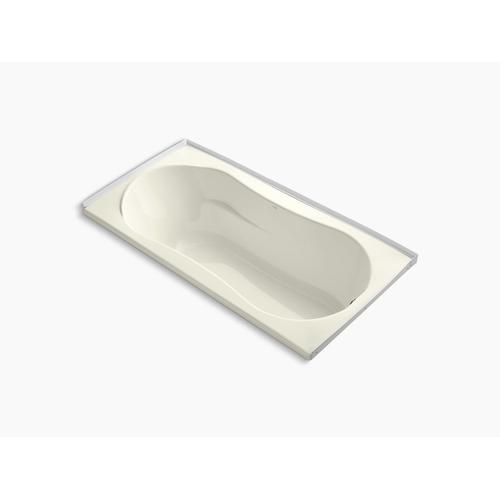 "Biscuit 72"" X 36"" Alcove Bath With Integral Flange and Right-hand Drain"