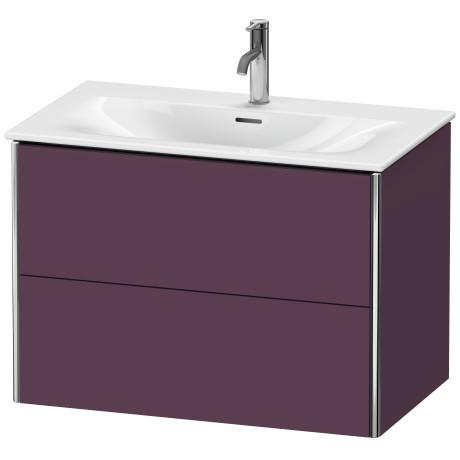 Product Image - Vanity Unit Wall-mounted, Aubergine Satin Matte (lacquer)