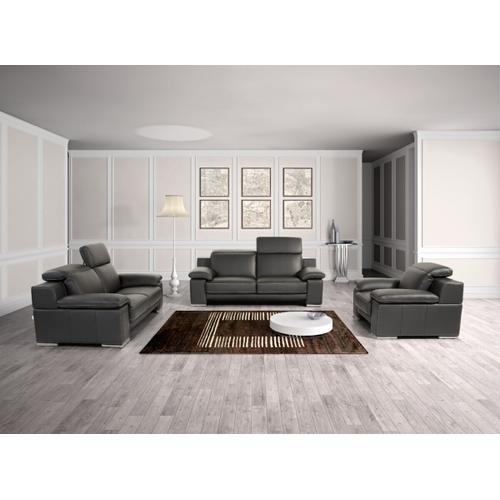 Gallery - Estro Salotti Evergreen Modern Black Italian Leather Sofa Set