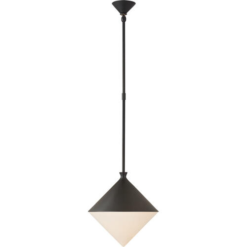 AERIN Sarnen LED 13 inch Matte Black Pendant Ceiling Light, Small