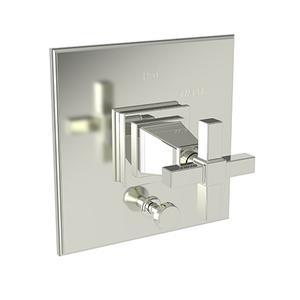Polished Nickel - Natural Balanced Pressure Tub & Shower Diverter Plate with Handle