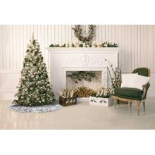 """See Details - Home for the Holiday Vv920 Silver 50"""" Round Holiday Accessories"""