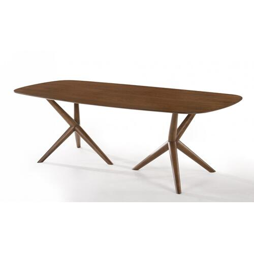 VIG Furniture - Modrest Utah - Modern Walnut Rectangular Dining Table