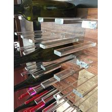 """See Details - Pair of Acrylic Support One Wine Bottle 8 """""""