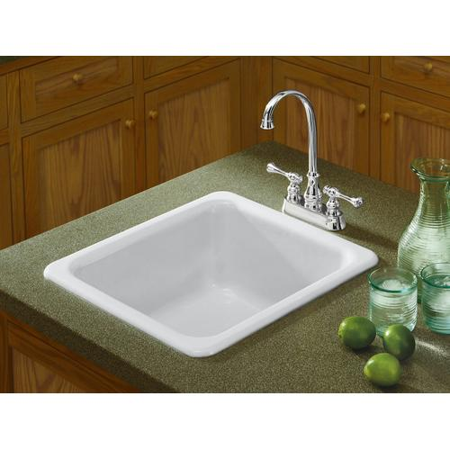 "Black Plum 17"" X 18-3/4"" X 8-1/4"" Top-mount/undermount Single-bowl Kitchen Sink"