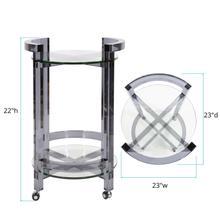 See Details - Smoked Acrylic Bar Cart