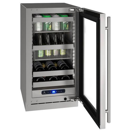 "U-Line - Hbv518 18"" Beverage Center With Stainless Frame Finish and Field Reversible Door Swing (115 V/60 Hz Volts /60 Hz Hz)"