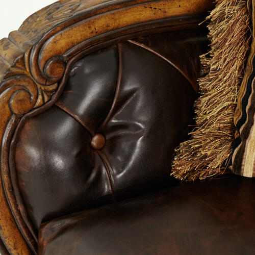 Leather/fabric Sofa