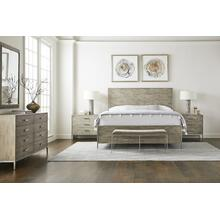 Cameron Panel Bed - Queen / Raw Silk