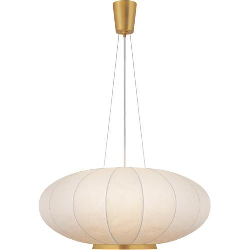 Barbara Barry Moon 1 Light 36 inch Soft Brass Hanging Shade Ceiling Light, Large