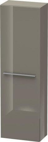 Semi-tall Cabinet, Flannel Gray High Gloss (lacquer)