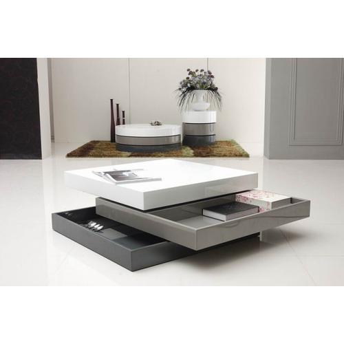 VIG Furniture - Modrest Trio-2 - Lacquer 3-Tone Square Coffee Table