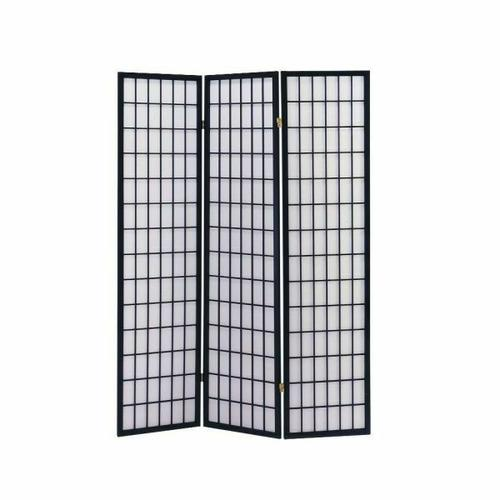 ACME Naomi 3-Panel Room Divider - 02284 - Black