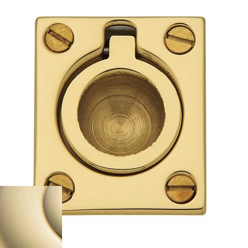 Baldwin - Lifetime Polished Brass Flush Ring Pull