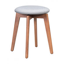 Billy Stool Walnut & Gray