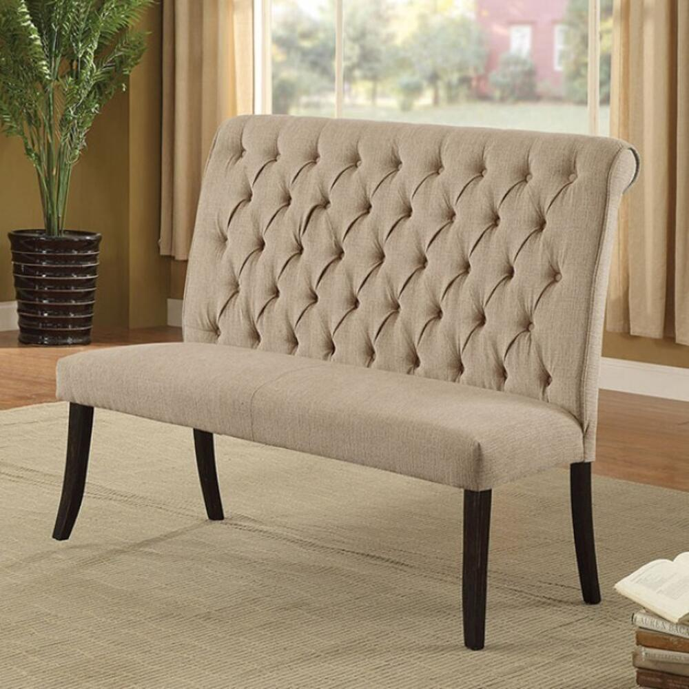 See Details - Mashall Love Seat Bench