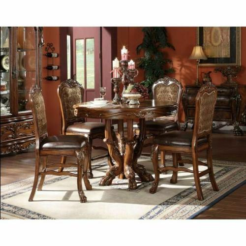 ACME Dresden Counter Height Table - 12160 - Cherry Oak