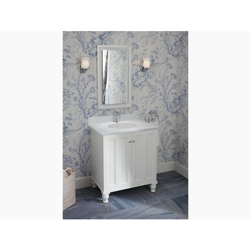 """Ice Grey Expressions 31"""" Vanity-top With Single Verticyl Oval Cutout"""