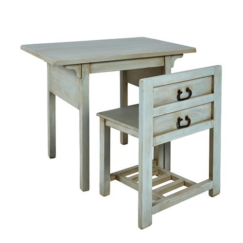 Progressive Furniture - Desk w/ Chair- 2/CTN - Seafoam Finish