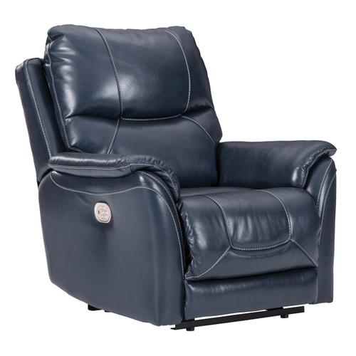 Power Leather Recliner with Adjustable Headrest and Lumbar