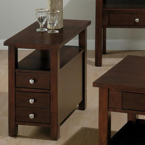 Chairside Table W/2 Drawers and Shelf (assembled)