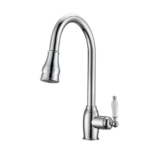Bay Single Handle Kitchen Faucet with Single Handle 3 - Brushed Nickel