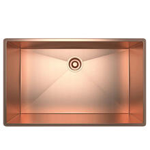 Forze Single Bowl Stainless Steel Kitchen Sink - Stainless Copper