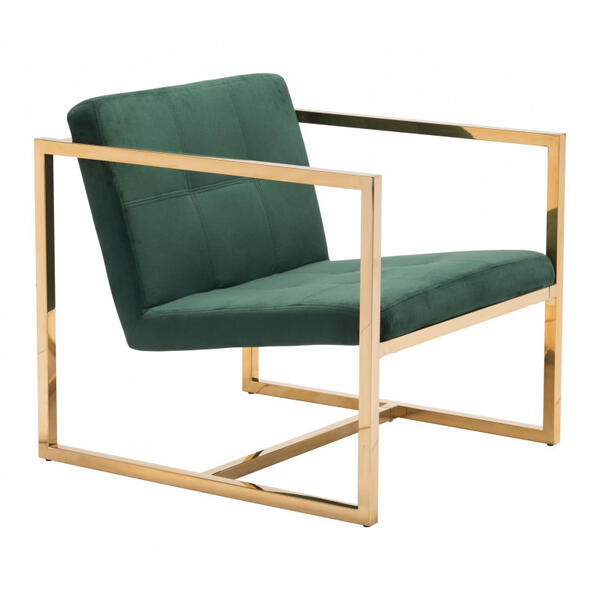 Alt Arm Chair Green & Gold