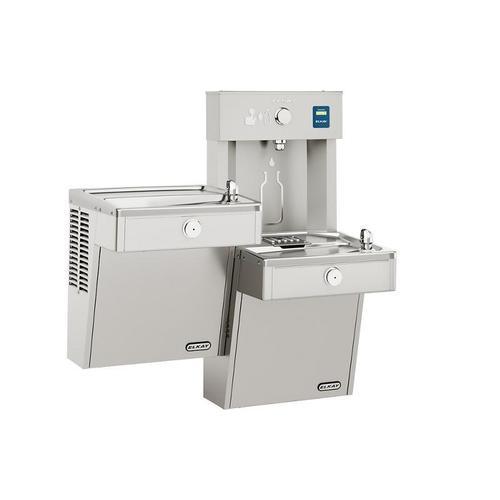 Elkay EZH2O Vandal-Resistant Bottle Filling Station, & Bi-Level Cooler, Non-Filtered 8 GPH Stainless