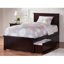 View Product - Nantucket Twin XL Bed with Matching Foot Board with 2 Urban Bed Drawers in Espresso