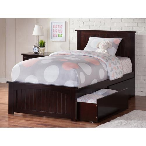 Atlantic Furniture - Nantucket Twin XL Bed with Matching Foot Board with 2 Urban Bed Drawers in Espresso